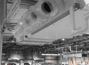 空冷直膨式工場用ゾーン空調機 CRH2型 誘引パンカー付