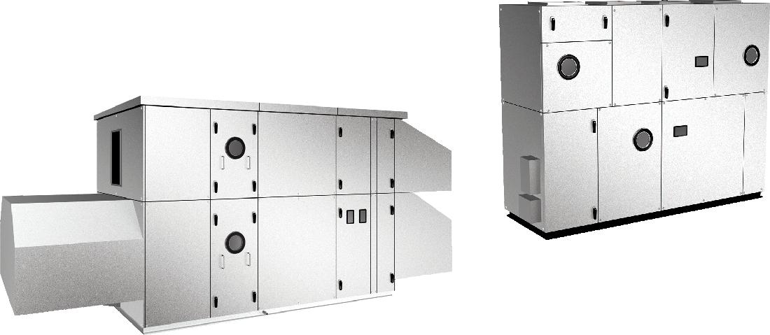 空冷HP式熱回収外調機&循環空調機