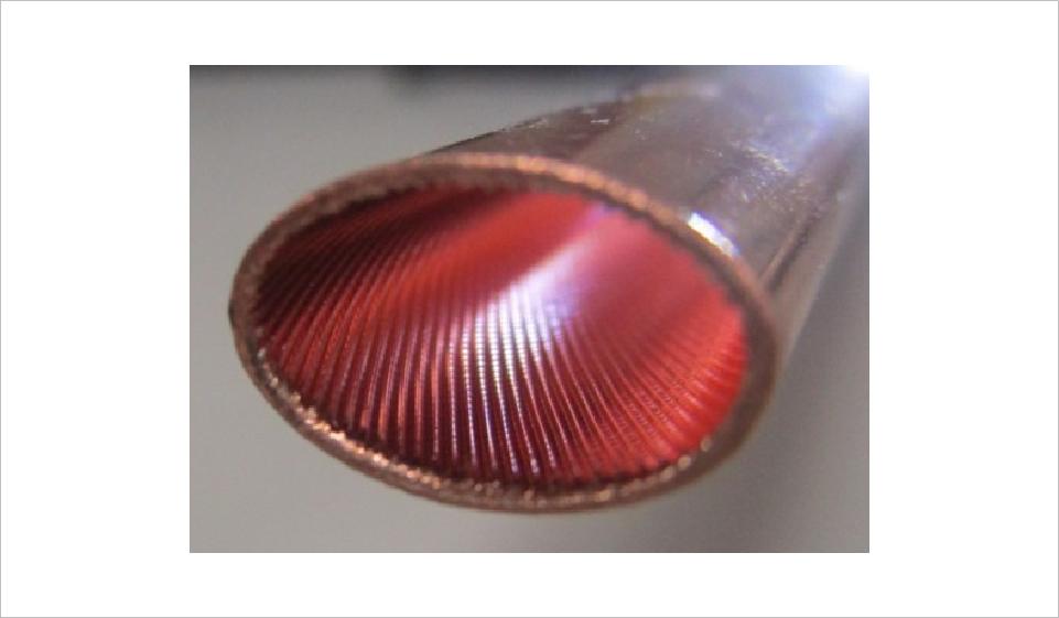 溝付き楕円管コイル