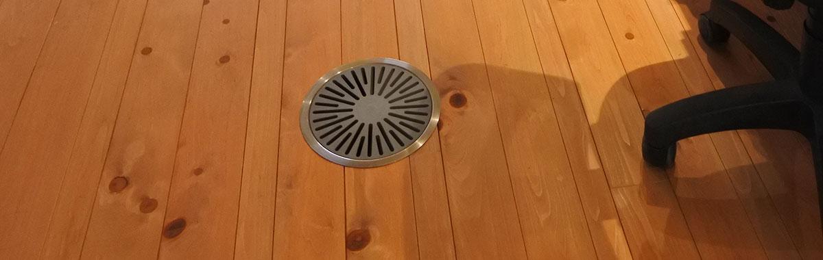 床面の空調吹き出し口