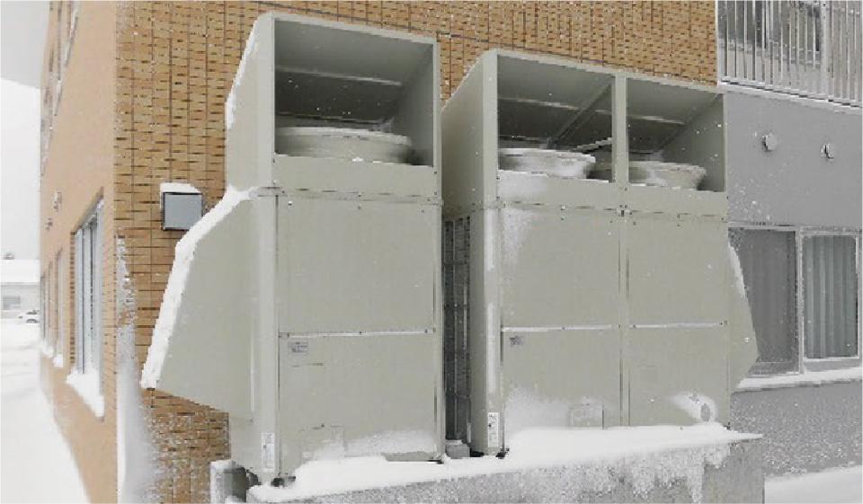 防雪フード設置例
