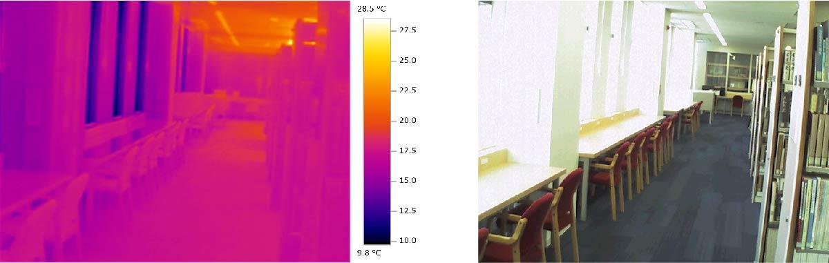 釧路市中央図書館 暖房時熱画像