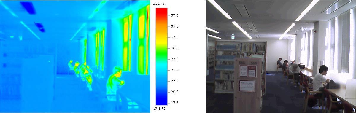 釧路市中央図書館 冷房時熱画像