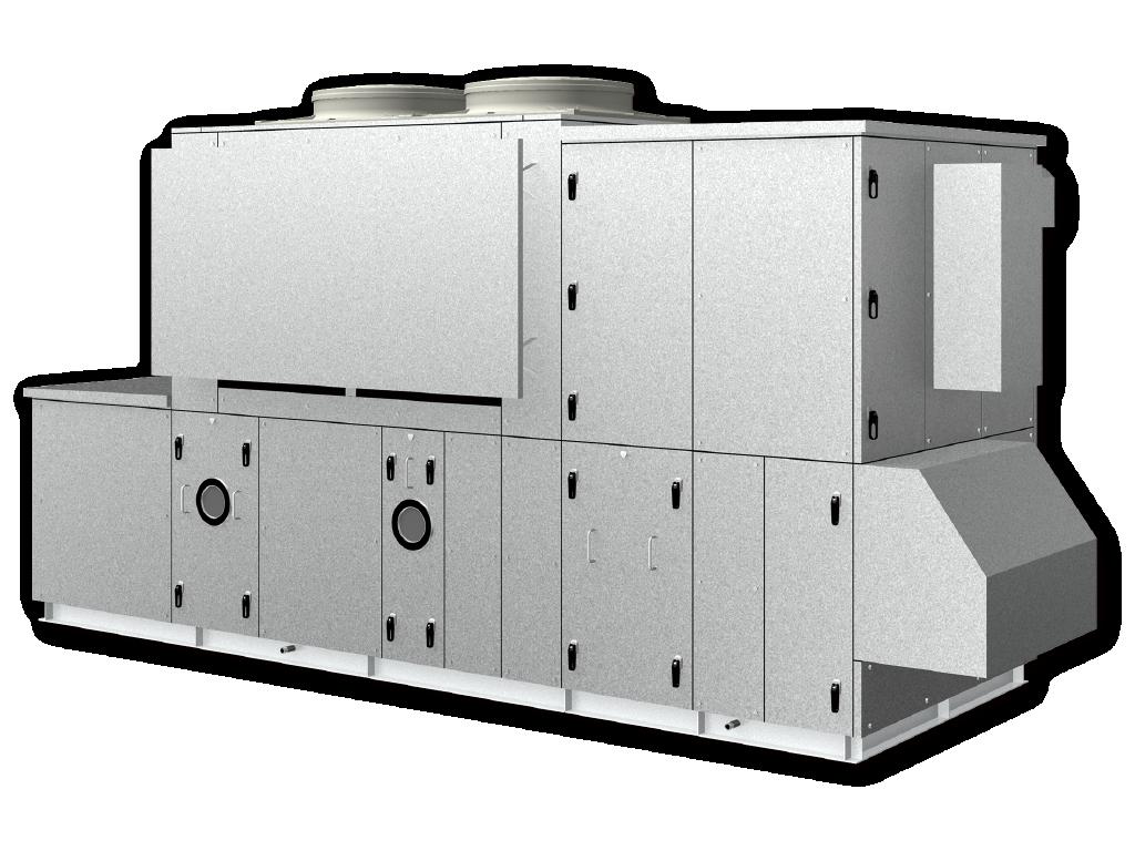 空冷HP式恒温恒湿用ツインサイクル形外調機
